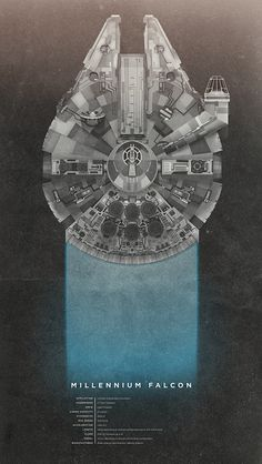 The Millennium Falcon illustrated by Christopher Gulczynski