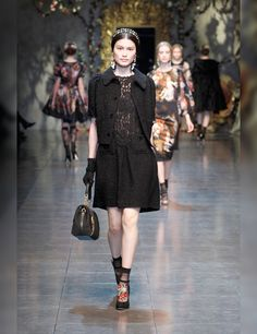 DOLCE & Gabbana Fashion Show Fall/Winter 2012 -2013 ON TREND - LACE & SHEER  Cute sheer sockettes
