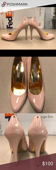 Ted Baker Pink/Nude High Heels Perfect pair of pink/nude high heels from Ted Baker. Only wore this indoor (carpet) twice. Too small for me now, hoping to find a new home. Box included. Slight imperfection with a small red mark on the left heel (inner side) and small chip on the left heel. See pictures. Ted Baker Shoes Heels