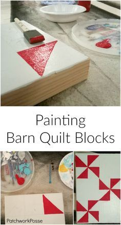 How to Paint Barn Quilt Blocks - how fun! love the flower bloc. Will have to do this with friends.