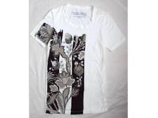 SUMMER SALE BLOWOUT CHECK OUT $40!!!! BALENCIAGA T's RUNWAY FAB FLORAL ABSTRACT MOD ART DECO FITTED TEE T-SHIRT TOP S