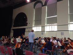 Day45: orchestra rehearsal- sounding good! #100happydays