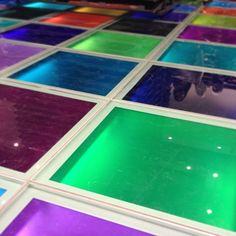 @glamorosscos photo: Loved the colourful disco floor in the new #Paperchase shop. #inglasgow #shopping #lights #colour #glass #reflection #shop