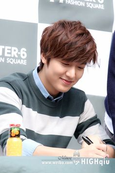 Lee Min Ho. The reddish-brown not too long in back natural fringe