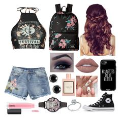 """""""❤️"""" by fandoms-and-good-music ❤ liked on Polyvore featuring Boohoo, Retrò, Converse, Casetify, Vans, MAC Cosmetics, Gucci, Effy Jewelry and Olivia Burton"""