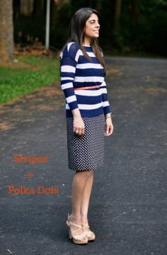Mixing Prints: Stripes + Polka Dots | STYLEN
