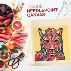 This is the kind of canvas that inspires everyone to start needlepainting, right? Needlepoint Kits, Needlepoint Canvases, Tiger Art, Stitch Markers, Stitch Fix, Stitches, Create Your Own, Embroidery, Fun