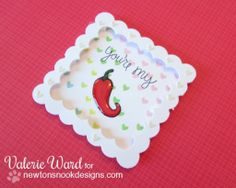 Newton's Nook - Love a la Carte Cards by Valerie ward for the Inky Paws Challenge#6 - color challenge