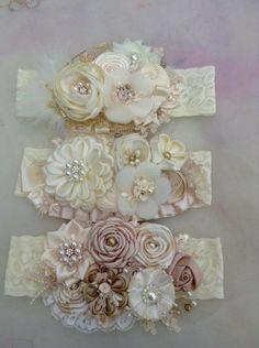 Rose Flower Felt Headband New item! Fabric Flower Headbands, Diy Baby Headbands, Lace Headbands, Flower Hair Clips, Baby Bows, Flowers In Hair, Fabric Flowers, Baby Crown Headband, Baby Tiara