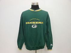 Vtg 90s Starter Green Bay Packers Crewneck Sweatshirt sz XL Extra Large SEWN NFL Vintage by TCPKickz on Etsy