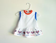 Vintage 1980s baby tennis dress by PotatoCakeVintage on Etsy