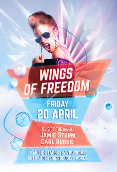Wings Of Freedom Party Flyer Template PSD. Download here: http://graphicriver.net/item/wings-of-freedom-party-flyer/15832868?ref=ksioks