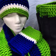 Classic NFL Seattle Seahawks Inspired Beanie, HANDWARMERS, INFINITY Scarf and Bootcuffs on Etsy, $62.50