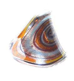 Fused Art Glass finger ring  size 6 #Unbranded #Rings