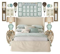 """""""TanGreen"""" by bcurryrice on Polyvore featuring Natural Life, Bernhardt, Barclay Butera, Regina-Andrew Design, Feiss, Pier 1 Imports and Ballard Designs"""