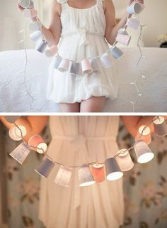 fairy lights + cups