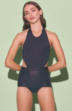 KORE SWIM 'Minerva' Cutout Maillot available at #Nordstrom