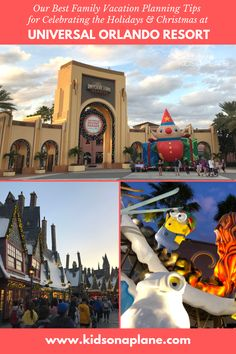 19 Best Tips for Celebrating Christmas & the Holidays at Universal Orlando with Kids - Practical Tips for Traveling with Babies, Toddlers & Kids Orlando Theme Parks, Orlando Resorts, Hotels And Resorts, Orlando Disney, Downtown Disney, Cruise Vacation, Disney Vacations, Disney Cruise, Universal Studios Florida