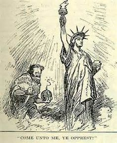 in american history the first red scare of was marked  this picture represents the red scare of the because it shows the communist in the back about to kill the statue of liberty