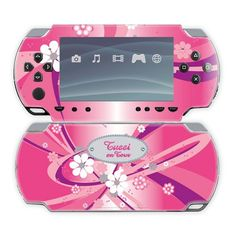 PSP 2000 Sticker Tussi on Tour - pink - Gr��e 16,7 x 8 cm