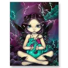 """Pet Storm Dragon"" Postcard from Zazzle.com"
