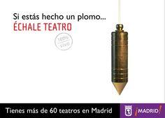 Promoción de teatros de Madrid. Cartel con plomo.