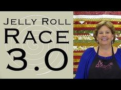 Jelly Roll Race 3.0! - Jelly Roll, 1 yard for border and triangles, 1-1/2 yards for outer border and binding