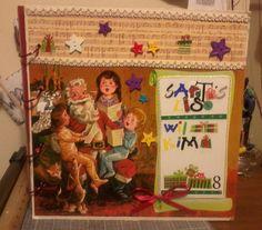 Vintage Santa Christmas Scrapbook Starter by IFeltItUp on Etsy, $12.00