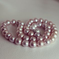 Pearl-Lang® freshwater pearl necklace with sterling silver fancy ball clasp http://www.pearl-lang.com/collections/necklaces/products/lavender-freshwater-pearl-necklace-with-sterling-silver-fancy-ball-clasp