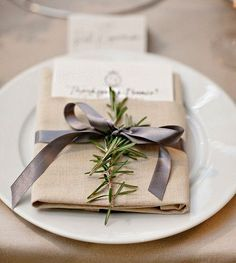 Image Result For Ribbon On Napkin