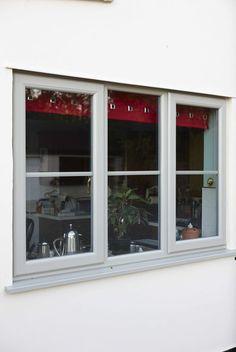 uPVC Casement window in Pearl Grey - nice Coloured Upvc Windows, Grey Windows, Windows And Doors, Modern Windows, Sash Windows, Window Frame Colours, Grey Window Frames, French Casement Windows