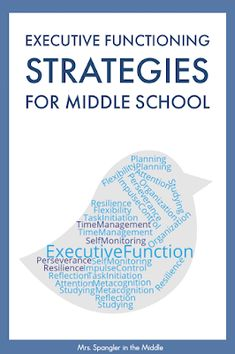 Executive Functioning Skills - what are they and should you be teaching them in your middle or high school classroom? Executive Functioning Skills - what are they and should you be teaching them in your middle or high school classroom? Teaching Themes, Teaching Schools, Teaching Study Skills, Reading Skills, Teaching Resources, Middle School Reading, Middle School English, Middle School Classroom, Middle School Advisory