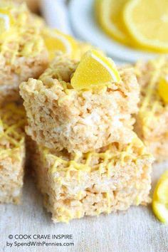 Lemon Rice Krispie Treats
