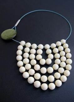 Necklace made from old beads by Rebeccalennox