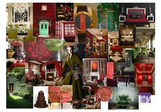 2015 Interior Design Color Trend: deep, rich red, dark green and browns.