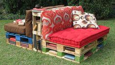 pallet sofa x2