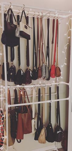 DIY PVC purse storage & How to Organize Your Handbags and Purses | Pinterest | Storage ideas ...