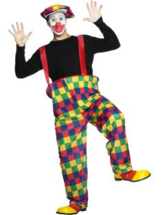 Circus: Unisex Hooped Clown Costume (plus Size). Adult Costumes, Halloween Costumes, Harem Pants, Pajama Pants, Circus Clown, Crazy Outfits, Discount Websites, Sweater Skirt, Boyfriend Tee
