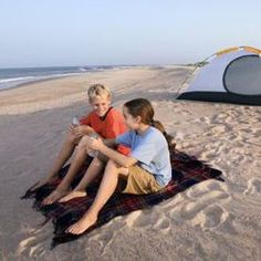 Camping on the beach is an inexpensive way to enjoy sunsets and sunrises by the sea.