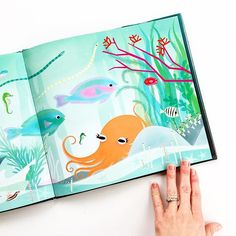"""""""It's a kind of windy, overcast day here, and this quiet underwater book (OCTOPUS ALONE) is just the ticket for today. That and a nap on the couch - apparently Easter exhausted me """""""