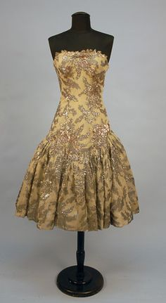 JACQUES HEIM SEQUINNED COCKTAIL DRESS, c. 1960.