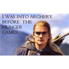 Legolas vs Katniss vs Hawkeye....what an epic battle of arrows that would be.