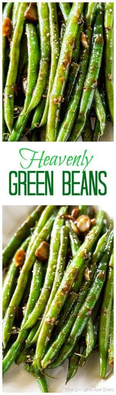 Heavenly Green Beans - this Asian inspired sauce will make you beg for more. A great side dish for any occasion. http://the-girl-who-ate-everything.com