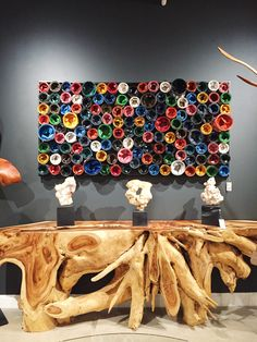 The Paint Can Wall Art Panels by Phillips Collection is an example of the upcycling trend we are seeing more of. Each panel is made of recycled paint cans, and you can buy them in a variety of shapes and sizes