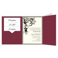 Brandi Folio Pocket Floral Wedding Invitations