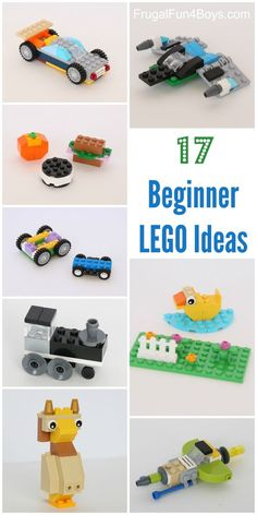 17 Beginner LEGO Project Ideas with Classic Tubs - All of these projects can be…