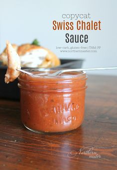 This copycat Swiss Chalet sauce recipe will bring the restaurant home! It's a low-carb, gluten-free, THM FP substitute for the best chicken dipping sauce!