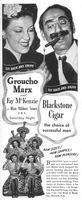 Blackstone Cigar Groucho Marx 1944 Ad Picture