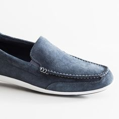 Crafted with fuss-free suedes that will stand up to unexpected summer showers: the Bennett Lane Slip-On. Slip On Shoes, Men's Shoes, Dress Shoes, Comfortable Mens Shoes, Rockport Shoes, Shoe Collection, Summer Shoes, Loafers Men, Fashion Shoes
