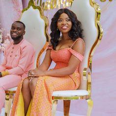 Short African Dresses, African Wedding Dress, Wedding Dresses, Wedding Designs, Wedding Ideas, African Shirts For Men, Kente Dress, Kente Styles, Black Bride